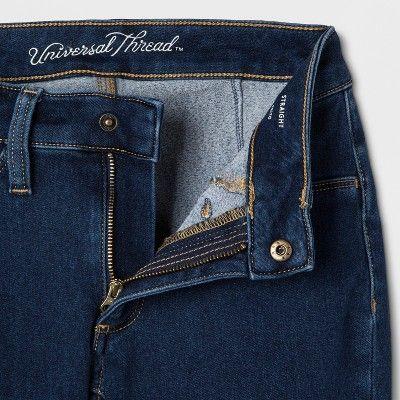 New Universal Thread Black Comfort Stretch Women/'s Bootcut Crop Jeans Size 8