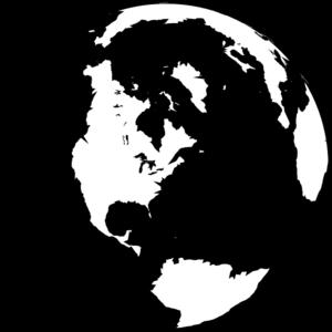 Black And White Globe Clip Art Black And White World Clipart Heart Clip Art