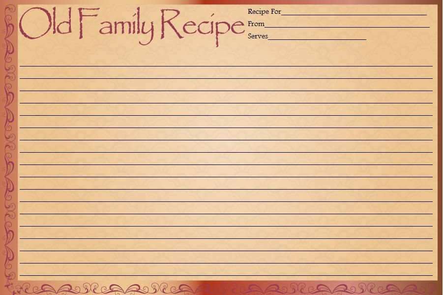 Recipe Cards Free Printable Recipe Cards I Really Like The Old Famly Recipe Card Printable Recipe Cards Recipe Cards Printable Free Recipe Cards Template