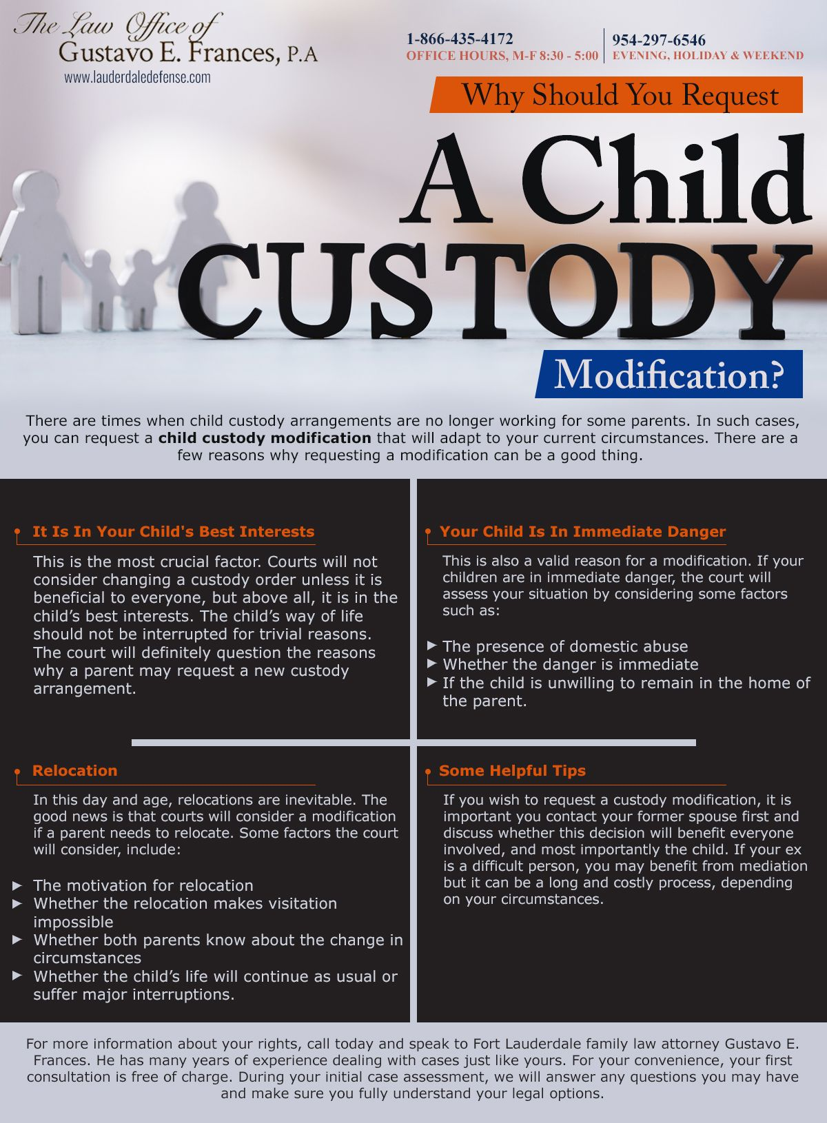 Child Support Modifications Lawyer Fort Lauderdale Child Custody