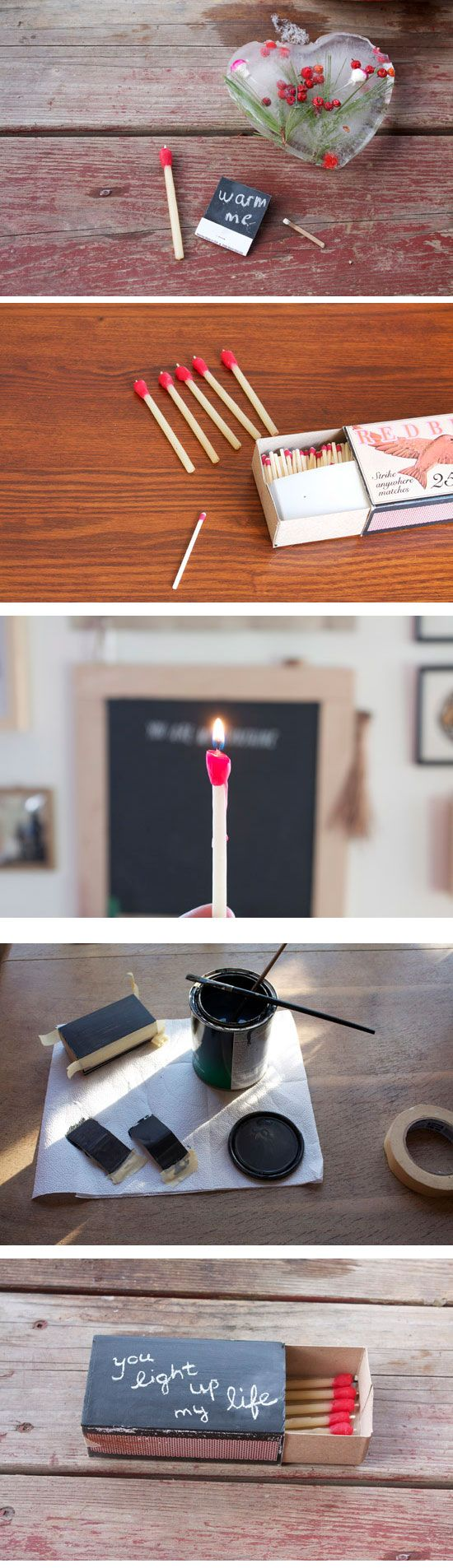 Matchstick Beeswax Candles | DIY Valentines Ideas for Boyfriend ...