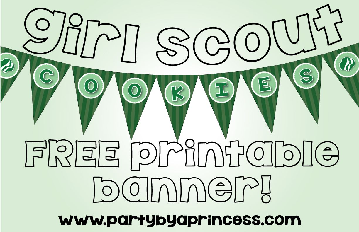 Girl scout scrapbook ideas - Free Girl Scout Cookie Printable Banner