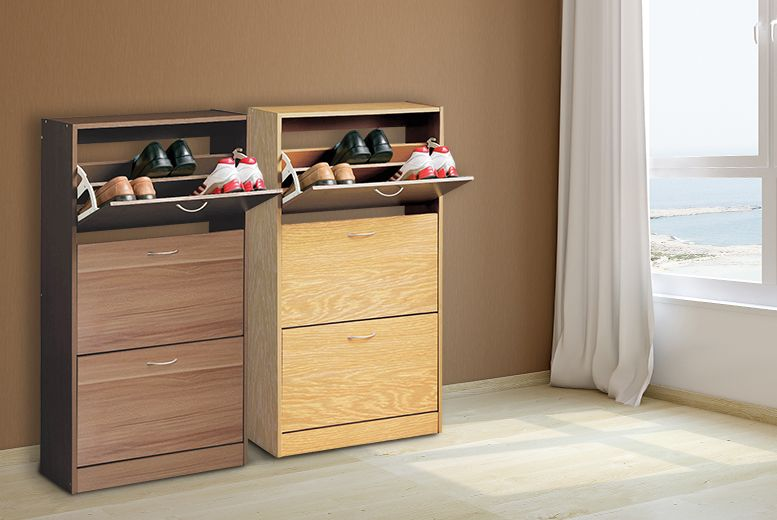 3 Drawer Shoe Cabinet   2 Colours!