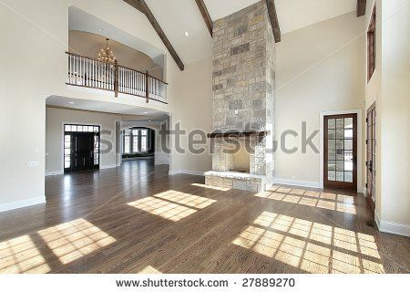 Great Rooms With Fireplaces Great Room With Two Story Stone