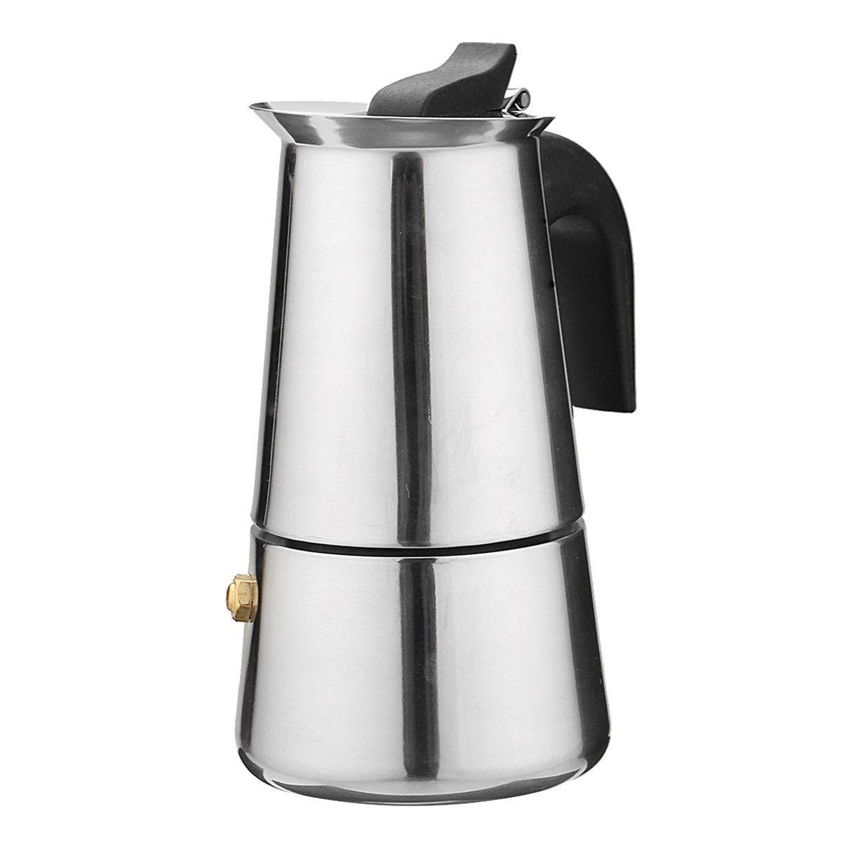 Ml percolator stove top espresso moka coffee maker pot stainless