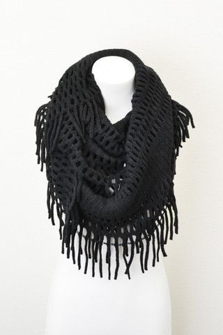 Fringe Infinity Scarf- Multiple Color Options