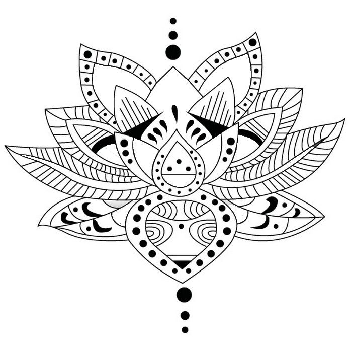 Adult Coloring Page Tattoos Tattoo Lotus 1 Glass Tattoos