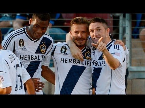 Beckham bends 1st of 2 signature goals in one game (Galaxy vs Timber, July 16, 2012)