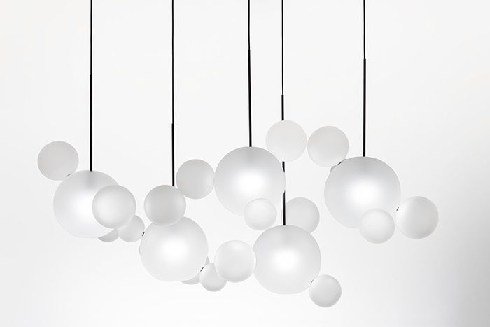 Suspensions en verre : Suspension Bolle Frosted (Giopato & Coombes).