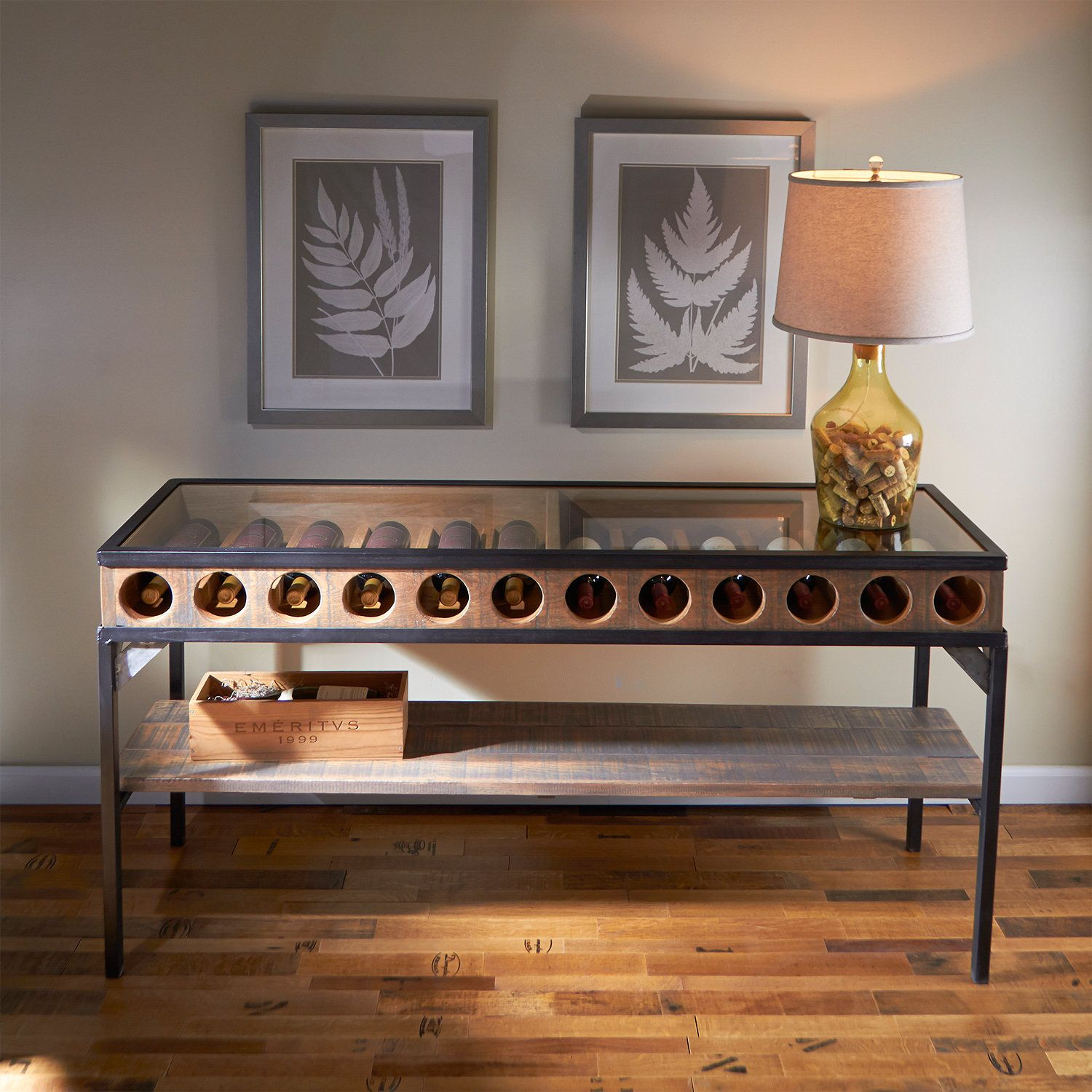 Wine Bottle Display Console Table Future Home Inspiration