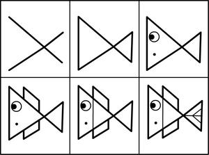 Comment dessiner un poisson poissons d 39 avril 2017 pinterest comment dessiner poissons et - Dessiner un poisson facilement ...