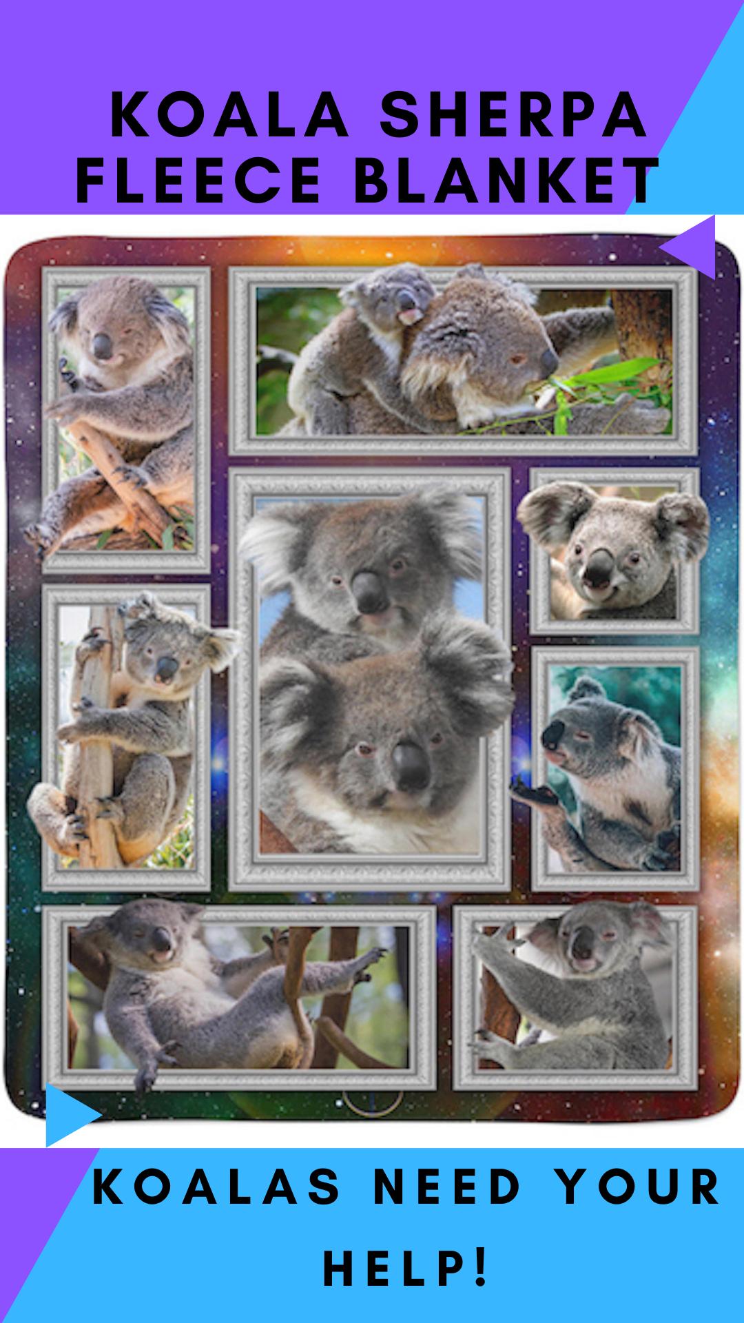 MindNature Koala Fleece Sherpa Blanket in 2020 Koalas