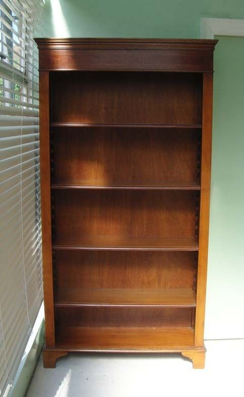 tall vintage mahogany bookcase bookshelves display shelves excellent condition worthing west - Mahogany Bookshelves