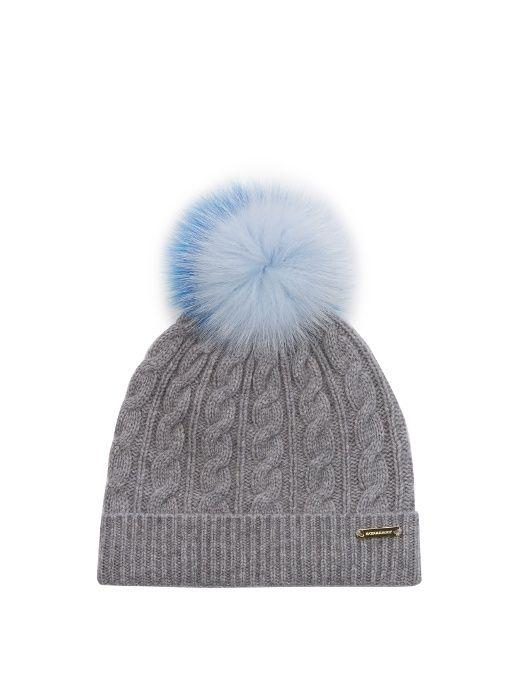 af05ba79d33 BURBERRY Fur pompom wool and cashmere-blend hat.  burberry  hat ...