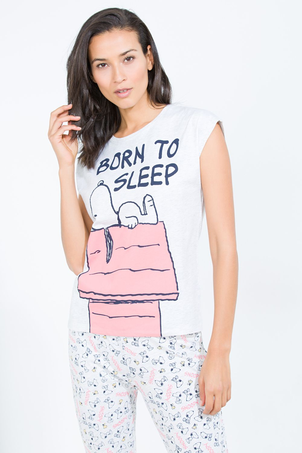ffe840daa2d57 Women'secret - Long 'Born to Sleep' Snoopy pyjama | LADIES LICENSED ...