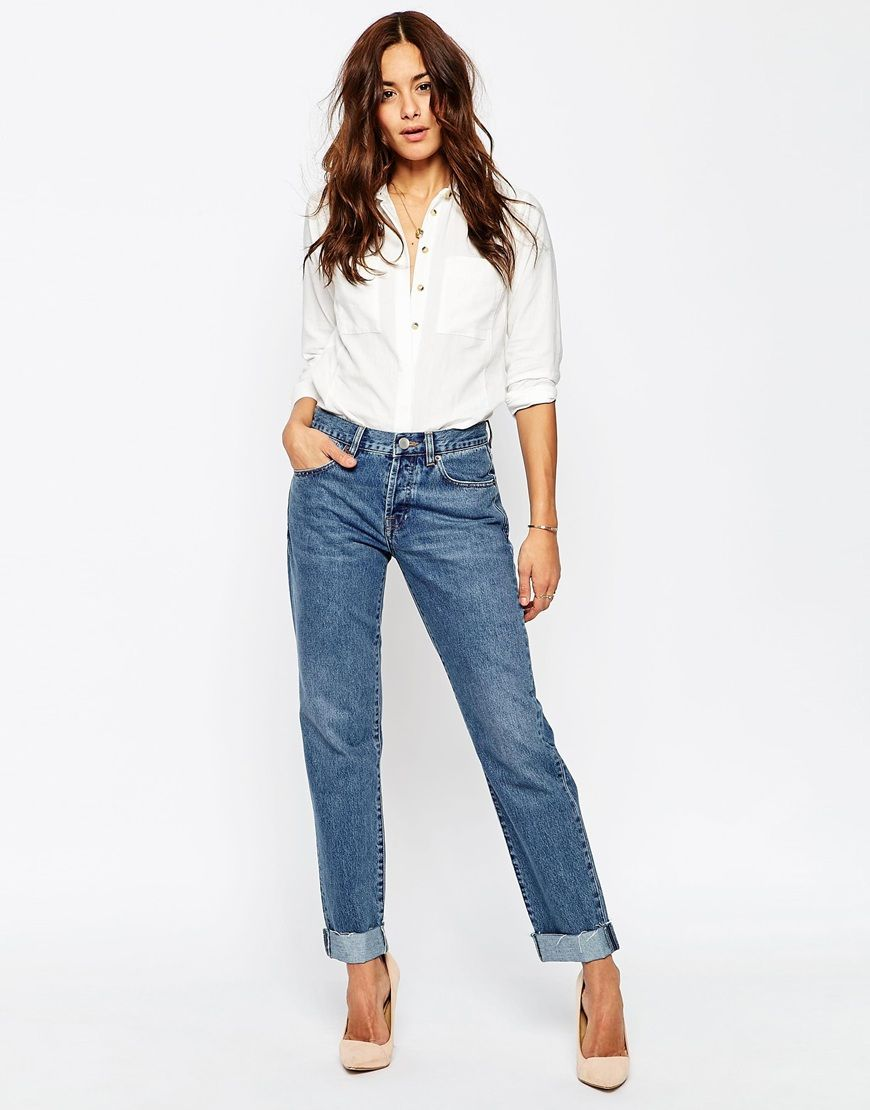 Bild 4 von ASOS TALL – Boyfriend-Jeans in Karottenform