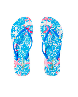 Lilly Pulitzer Pool slipper Bay Blue Women