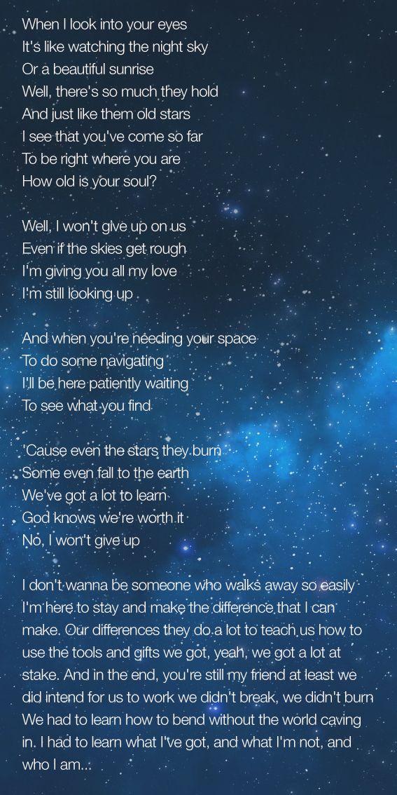 Jason Mraz - I Won't Give Up Deep...deep lyrics   Words ...