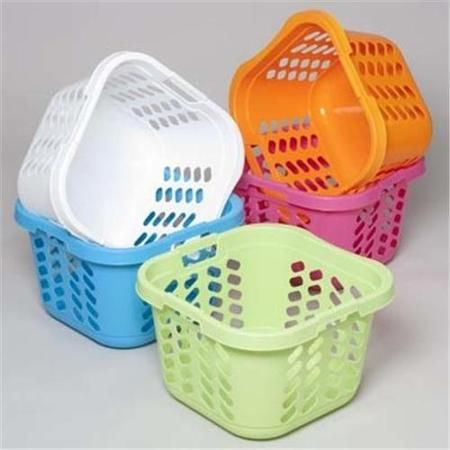 Dollaritemdirect Laundry Basket Square With 3 Handles 6 Colors