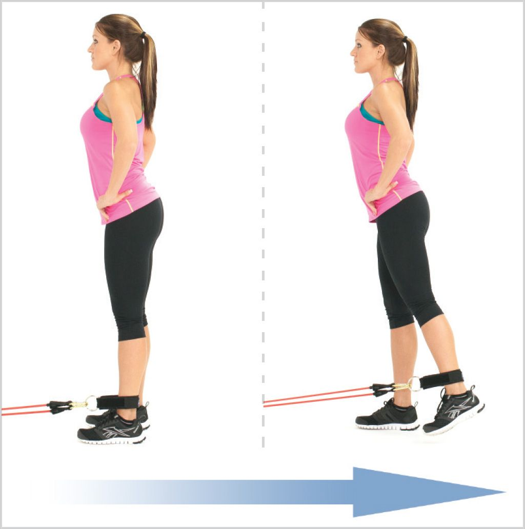Exercise Bands Hips: Standing Hip Extension With Resistance Bands