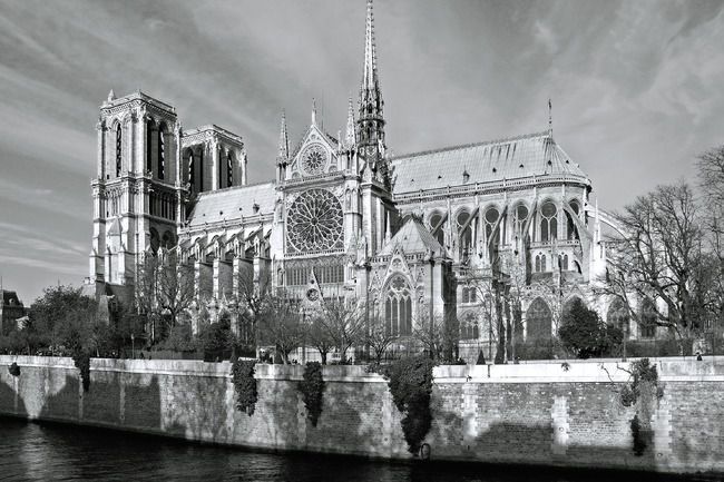 Notre Dame De Paris Photos Paris En Blanc Et Noir En 2019