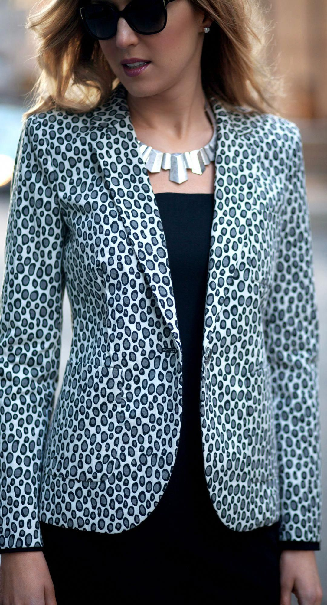 259405b304b5 The Classy Cubicle: Snow Leopard Blazer by Rachel Zoe  #teacherfashionover40animalprints