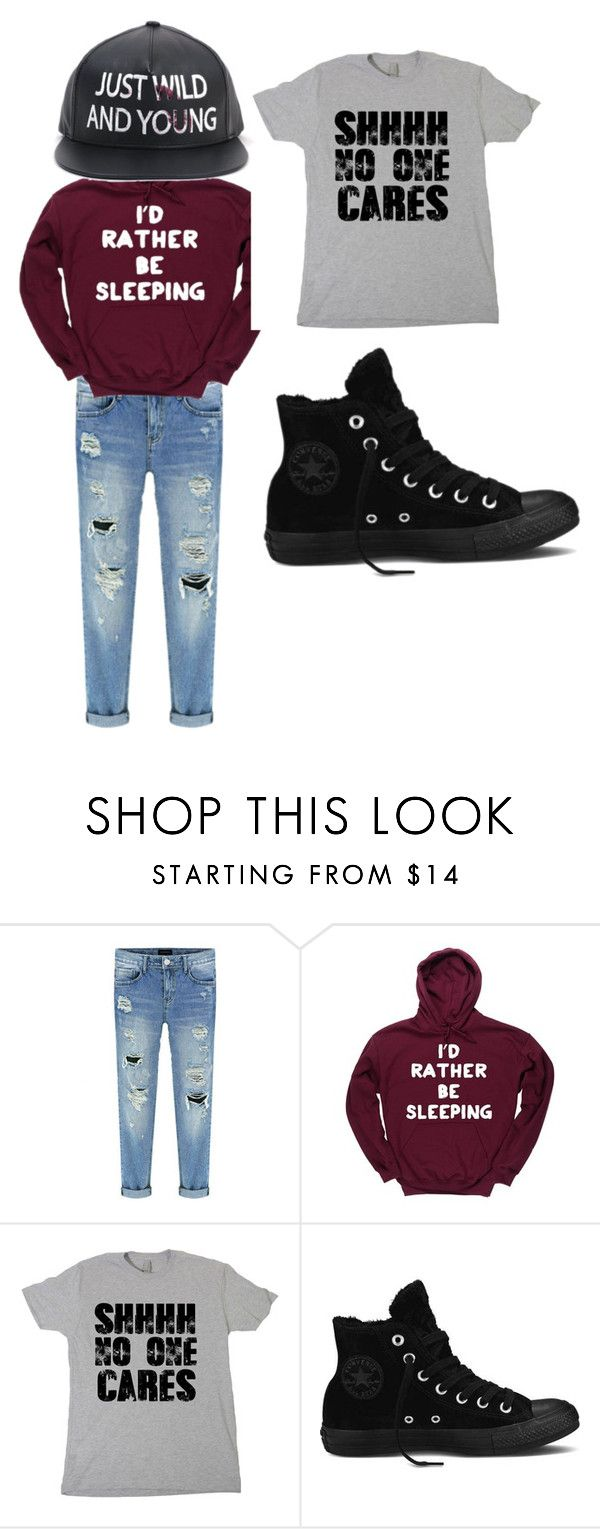 """""""Lazy Day"""" by forever-designer ❤ liked on Polyvore featuring moda i Converse"""