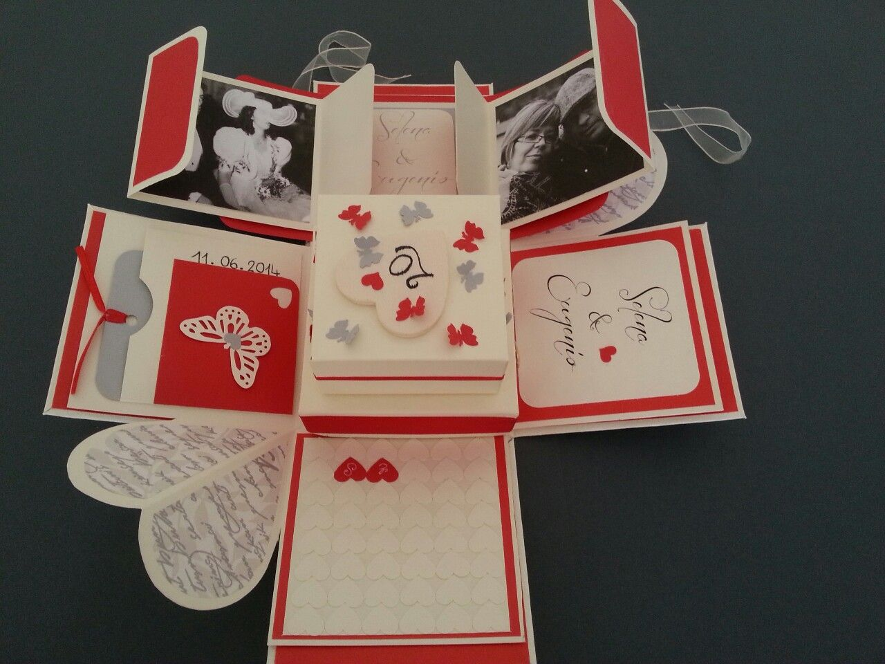 Explosion box 20 th wedding anniversary with mini album inside ...