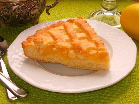 Песочный лимонный пирог - красиво, ярко и солнечно!