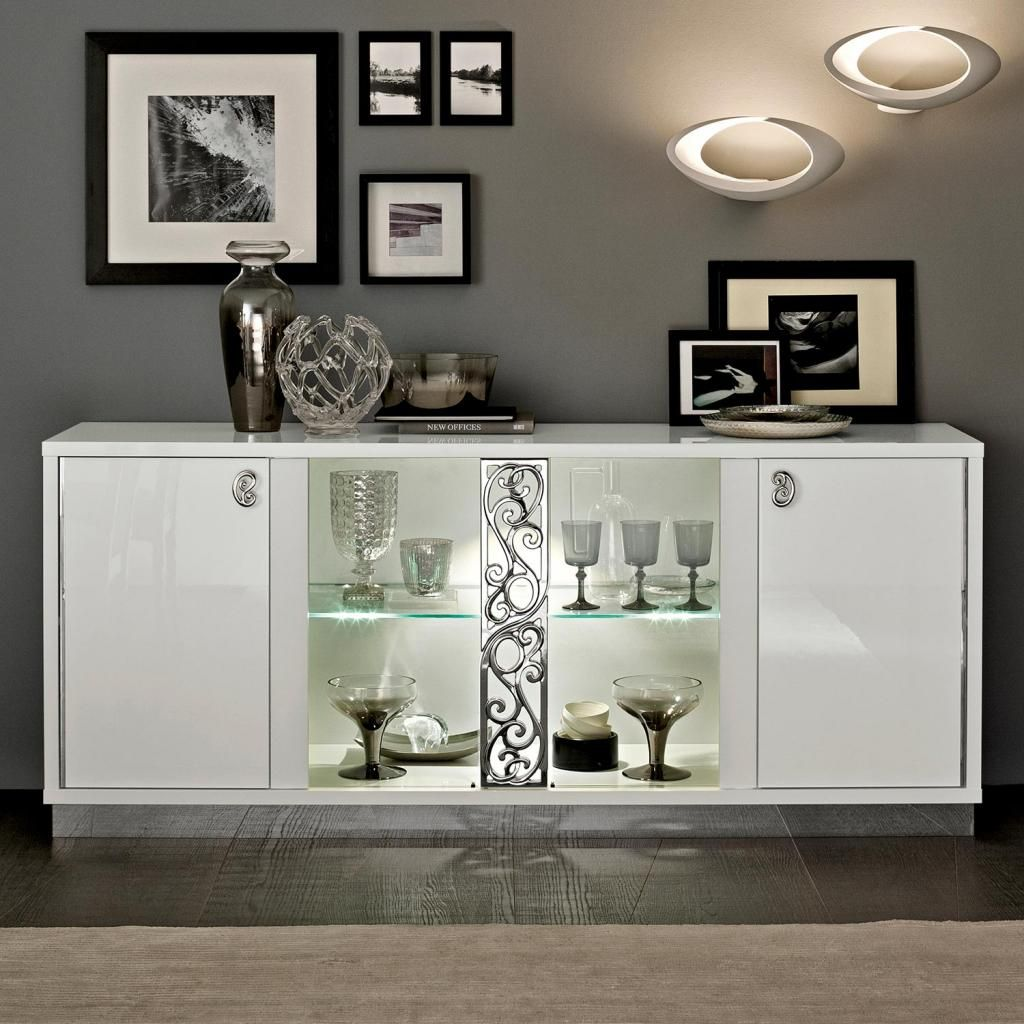 Sideboards With Glass Doors For Dining Room Classic Dining Room