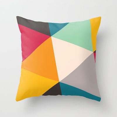 Tilting Triangles Throw Pillow by Gary Andrew Clarke - $20.00