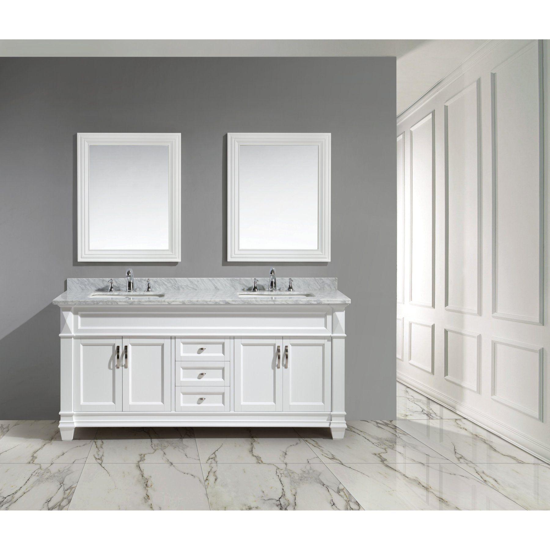 Design Element Hudson 72 Indouble Bathroom Vanity Set  Dec059D Impressive Design Element Bathroom Vanity Design Decoration