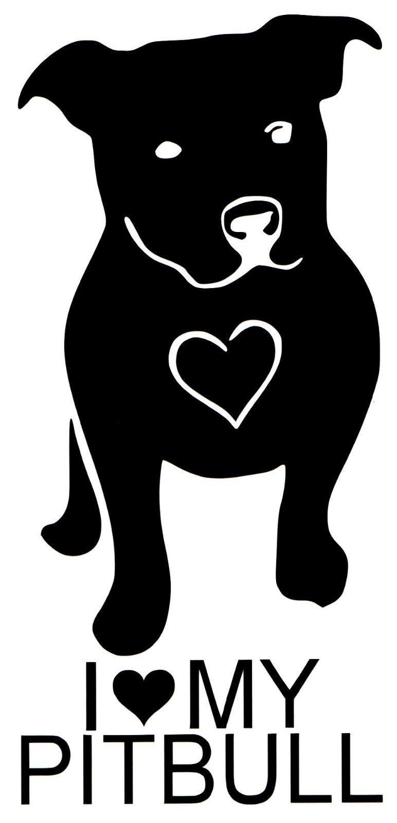 i love my pitbull dog ipad vinyl car window decal sticker love a rh pinterest co uk pit bull clip art pitbull silhouette clip art