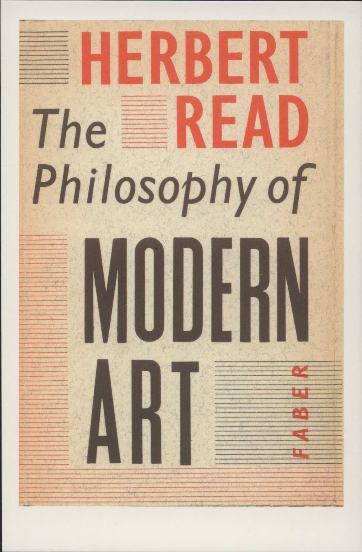 Faber Archive Classic Book Cover Herbert Read The Philosophy Of Modern Art 1952 Berthold Wolpe Modern Post Modern Postcard Classic Books Unique Postcards