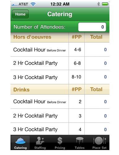 super planner™: Catering Calculator