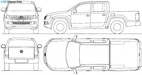 Car blueprints 2010 volkswagen amarok crew cab pick up blueprint vehicle malvernweather Image collections