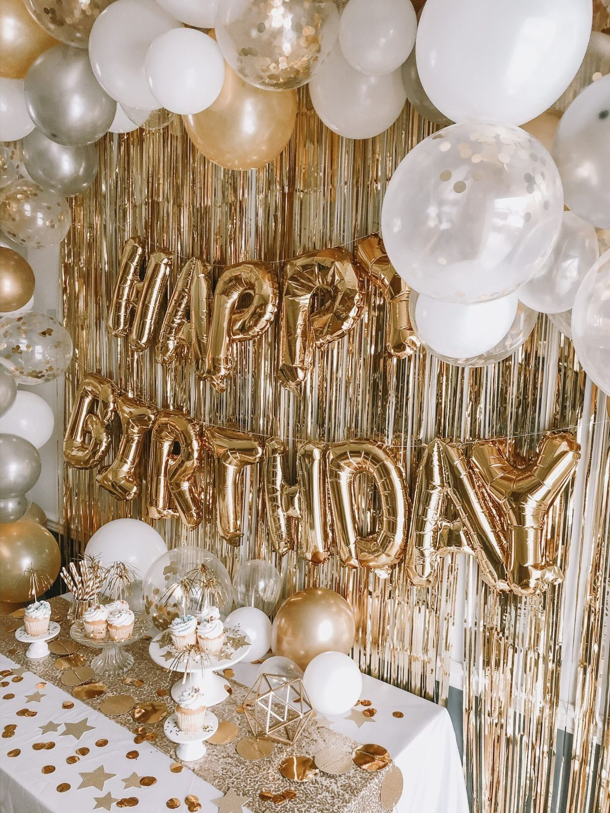 Pin On Gold Theme Birthday Party