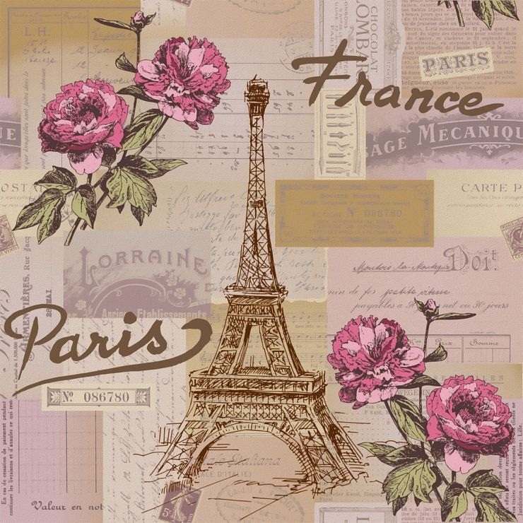 Paper Backgroundso Vintage ParisDecoupage
