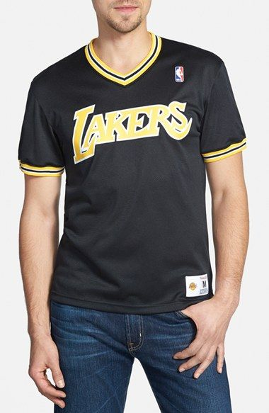 7ba5ee41 Mitchell & Ness 'Los Angeles Lakers' Tailored Fit Mesh T-Shirt available at  #Nordstrom