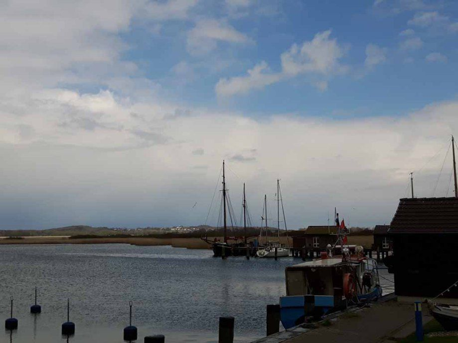 Boote im Hafen von Gager (c) Aquarell von Frank Koebsch | Sonne im Hafen von Gager (c) Frank Koebsch