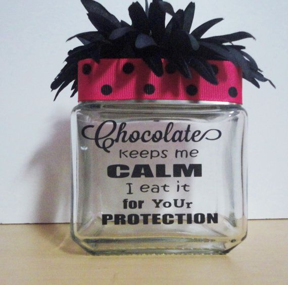 Candy Jars Glassware Chocolate Funny Sayingsgifts Desk Etsy Candy Jar Labels Candy Quotes Desk Candy Jar