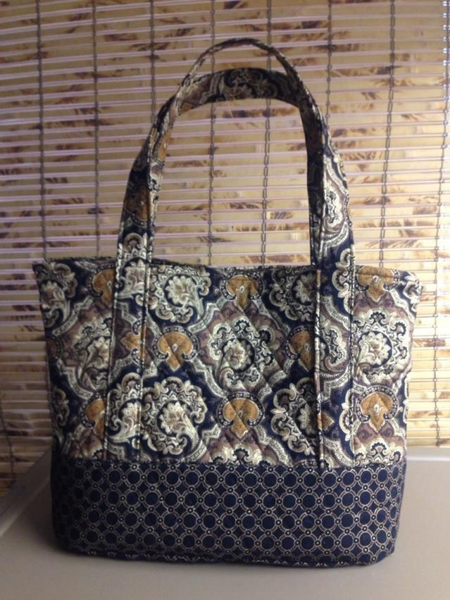 Quilted Tote Bag My Quilted Creations Quilted Tote