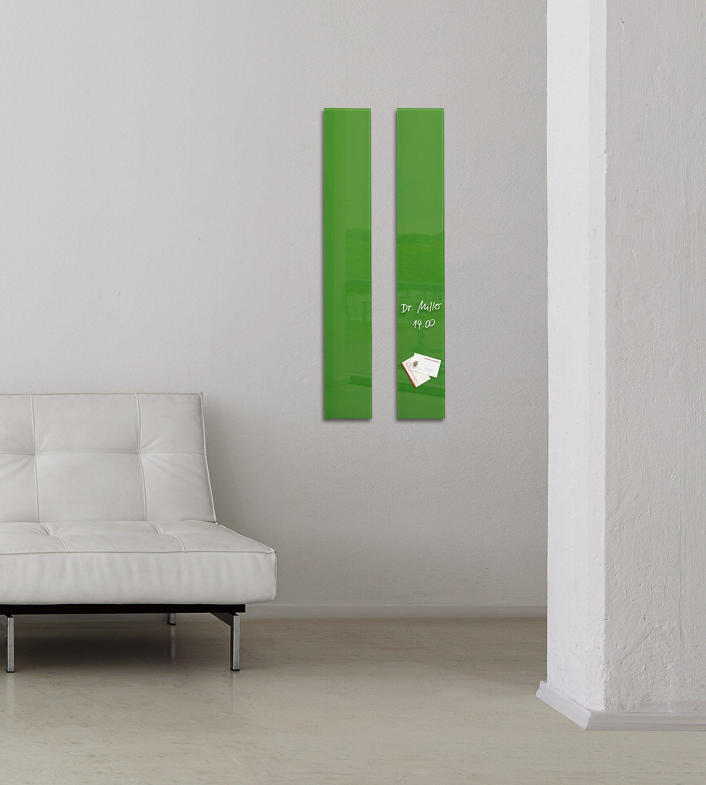 Sigel gl251 glas magnetboard magnettafel artverum 12 x 78 cm grün