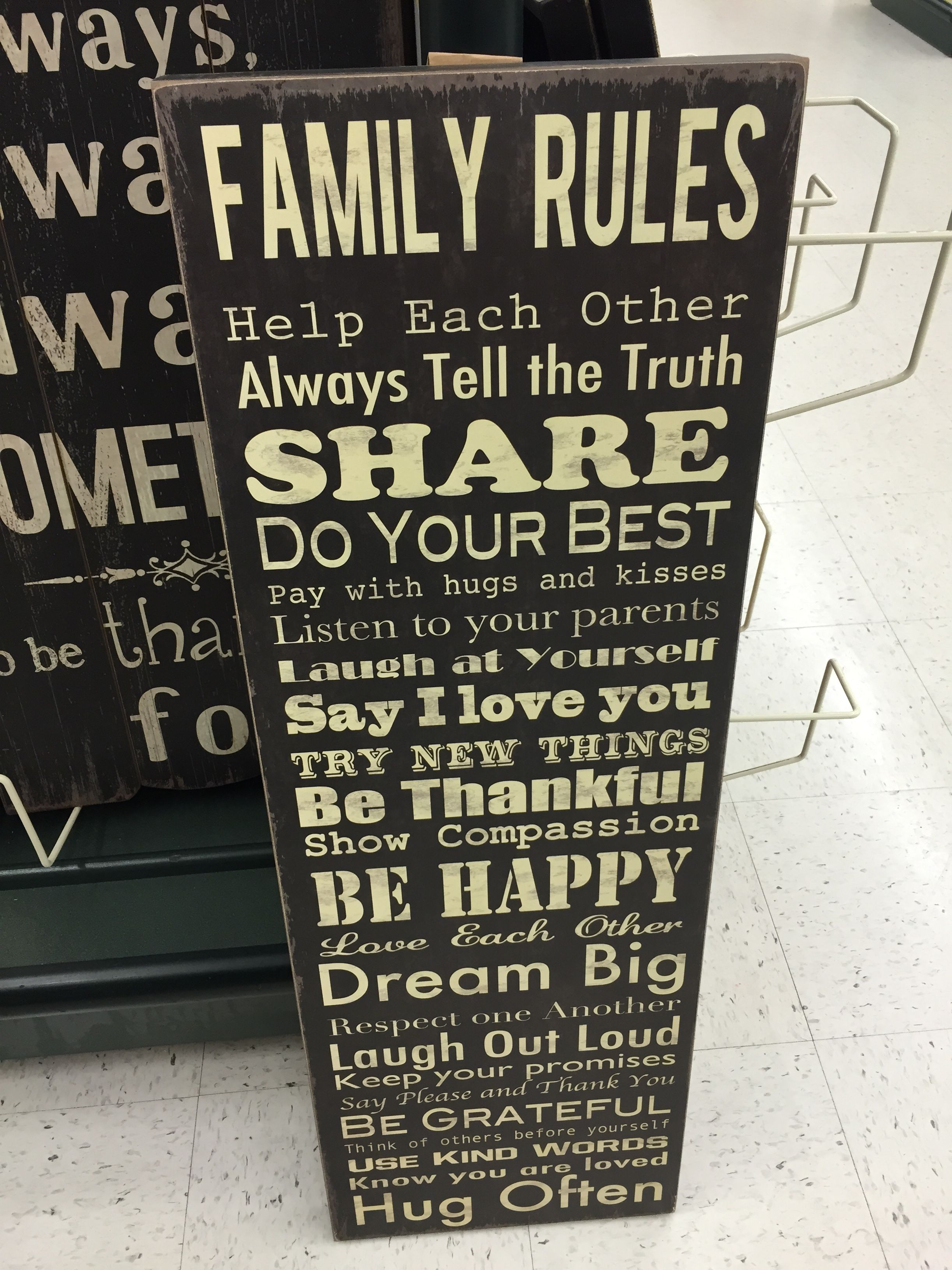 Family Rules Sign Hobby Lobby Family Rules Family Rules Sign