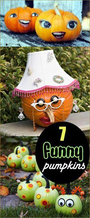 Funny Pumpkins Funny pumpkins - funny halloween decorating ideas