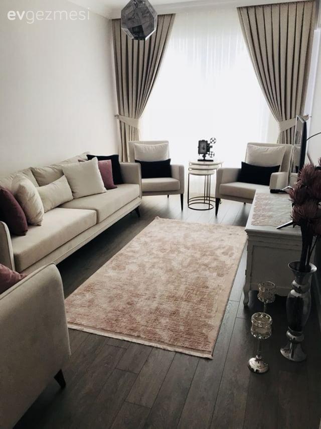 Sohbete elverişli yerleşim, koyu ve açık tonların sakin uyumu. Çağla hanımın evi.. | Ev Gezmesi #home