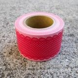 Qué lindo!!   Diary Lacey Polka dots Series Wide Washi Tape - Red