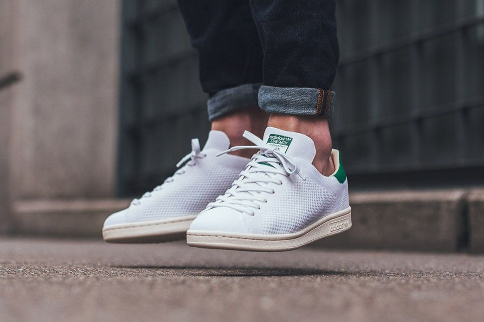 31a0402ca6ee adidas Stan Smith OG Primeknit in White   Green