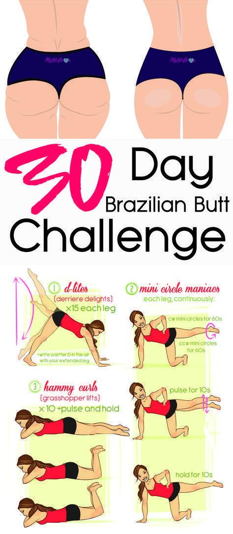 Photo of 30 Tage Brazilian Butt Challenge  #fitnessdietmotivation #Brazilian #butt #Chall…