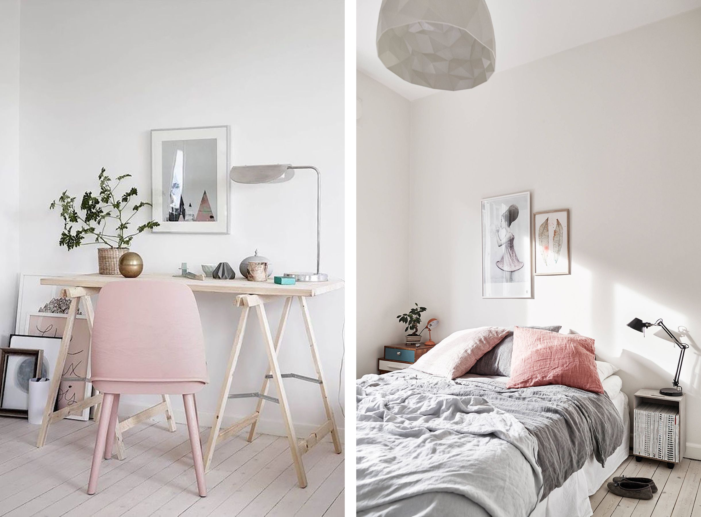 Scandinavian Interior With Blush Pink Accents Happy Grey Lucky Home Decor Pink Bedroom Decor Home Decor Bedroom